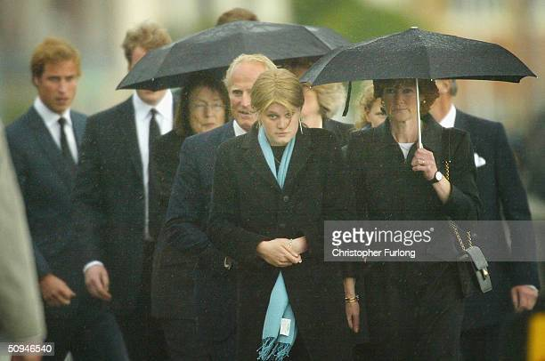 Prince William and family members attend the funeral of Princess Diana's mother Frances Shand Kydd at the Cathedral of Saint Columba on June 10 2004...