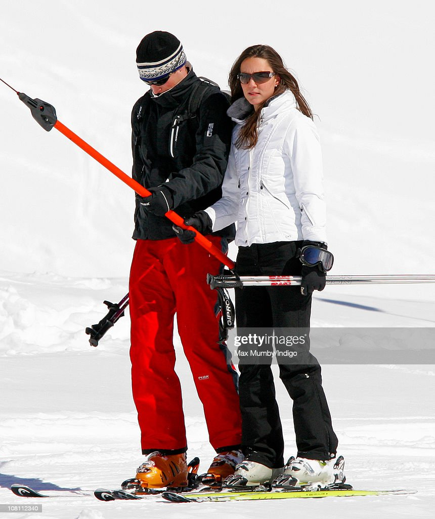 Prince William and Kate Middleton on a Skiing Holiday in Klosters : News Photo