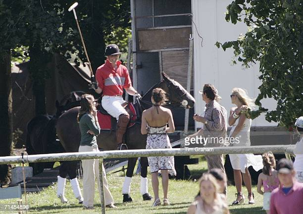 Prince William and his girlfriend Kate Middleton chat with Chelsy Davy at Tidworth Polo Club on July 15, 2006 in Tidworth, Hampshire.