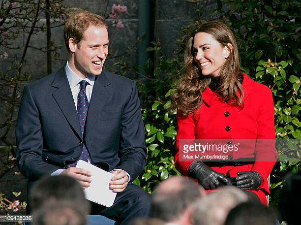 Prince William and Kate Middleton visit the University of St Andrews as part of it's 600th anniversary celebrations at University of St Andrews on...