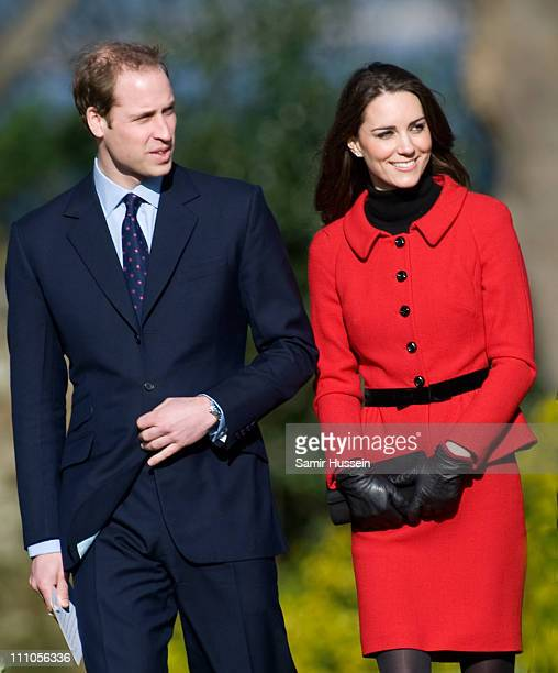 Prince William and Kate Middleton visit the University of St Andrews on February 25 2011 in St Andrews Scotland