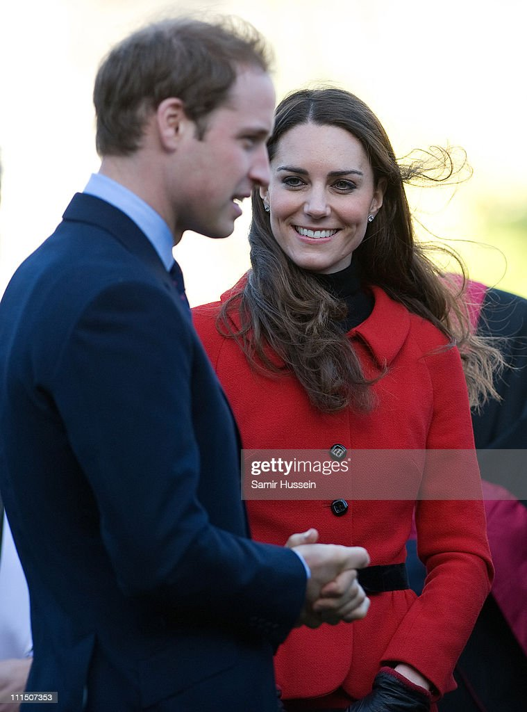 Prince William And Miss Catherine Middleton Visit The University Of St. Andrews : News Photo