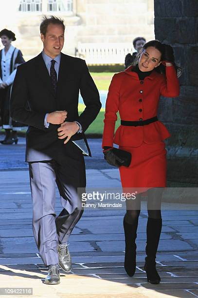 Prince William and Kate Middleton visit the University of St Andrewsas Patrons of the 600th Anniversary Appeal at University of St Andrews on...