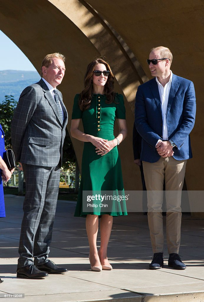 Prince William And Kate, The Duke And Duchess Of Cambridge, Visit Mission Hill Family Estate In British Columbia's Okanagan Valley : News Photo