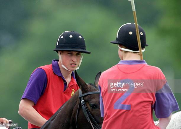 Prince William And Prince Harry At Cirencester Park Polo Club They Had Played In The Winning Highgrove Team For The King Constantine Trophy In A...