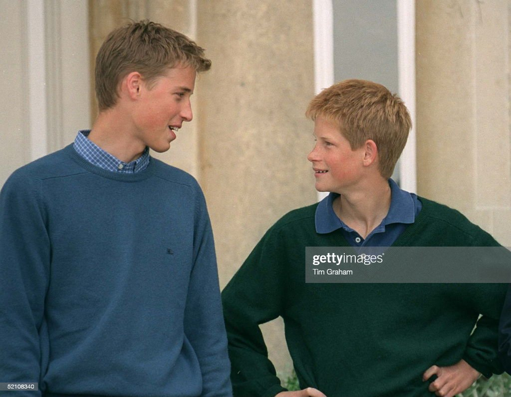 Prince William And Prince Harry At Highgrove, Gloucestershire.