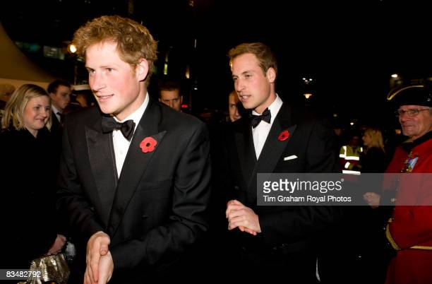 Prince William and Prince Harry attend the World Premiere of the new James Bond film, Quantum of Solace at the Odeon Cinema Leicester Square on...