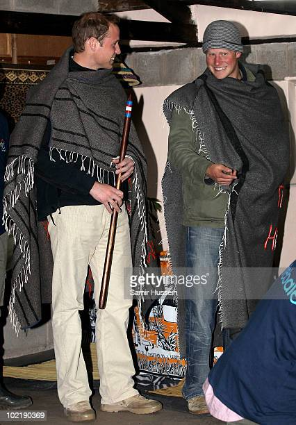 Prince William and Prince Harry visit the Herd Boy Night School on June 17 2010 in Semonkong Lesotho The Princes are on a joint trip to Southern...