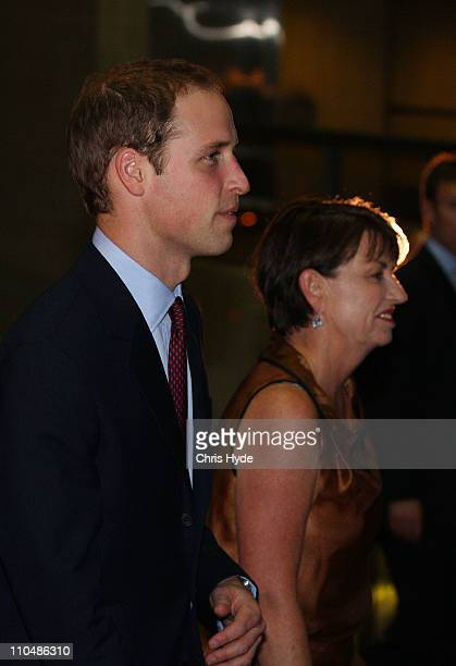 Prince William and Queensland Priemier Anna Bligh arrive for a special fundraising event with proceeds going to the Premier's Disaster Relief Fund at...