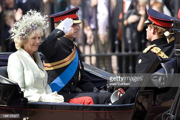Prince William And The Duchess Of Cornwall Attend The 2008 Trooping Of The Colour Ceremony In London