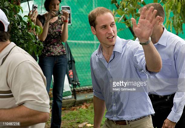 Prince William arrives at Grantham on March 20 2011 in Brisbane Australia His Royal Highness is in Queensland on a two day visit to tour regions...