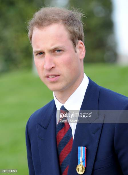 Prince William arrives at the National Memorial Arboretum to launch the NMA Future Foundations Appeal on April 24, 2009 near Lichfield, England.