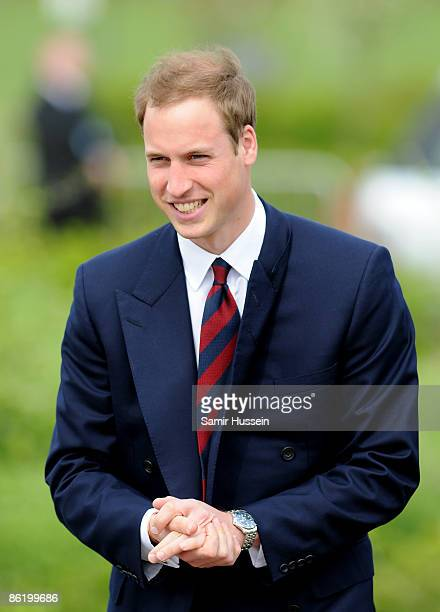 Prince William arrives at the National Memorial Arboretum to launch the NMA Future Foundations Appeal on April 24, 2009 in Burton-upon-Trent, England.