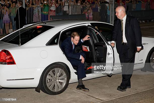 Prince William arrives at the Premier's Gala Dinner at the Brisbane Convention and Exhibition Centre on March 20 2011 in Brisbane Australia His Royal...