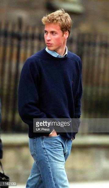 Prince William arrives for his first day of school at St Andrews University September 23 2001 in Scotland