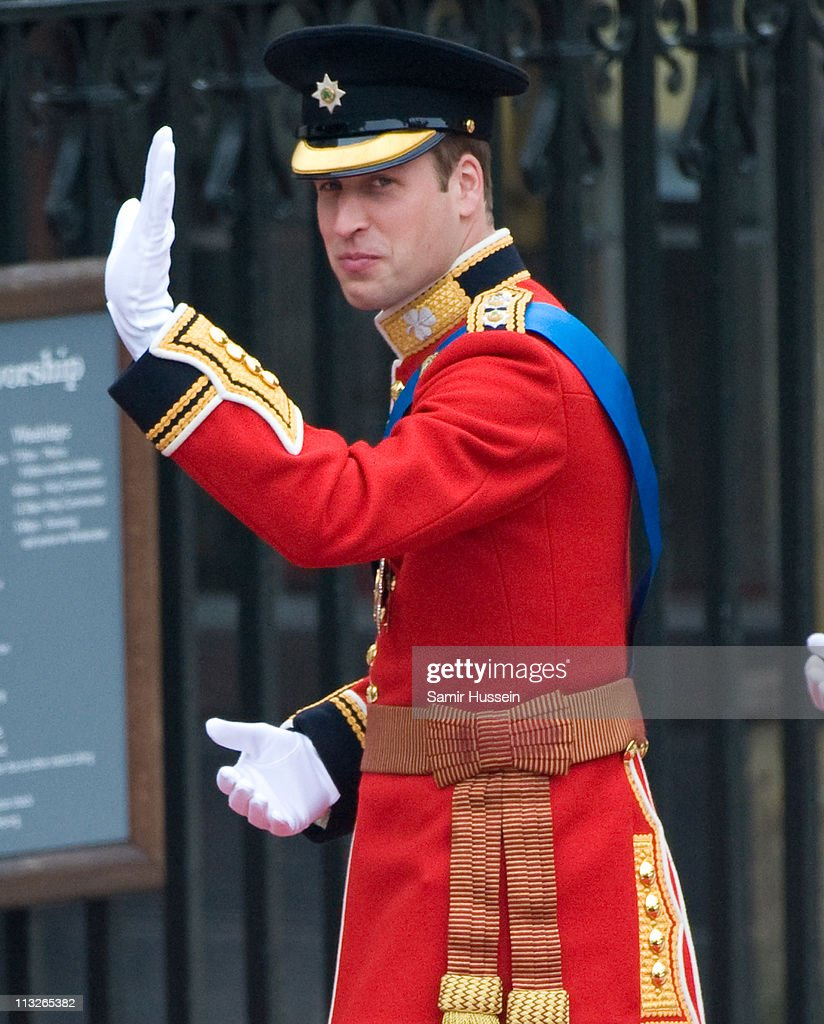 Prince William arrives to attend his Royal Wedding to Catherine Middleton at Westminster Abbey on April 29, 2011 in London, England. The marriage of the second in line to the British throne is to be led by the Archbishop of Canterbury and will be attended by 1900 guests, including foreign Royal family members and heads of state. Thousands of well-wishers from around the world have also flocked to London to witness the spectacle and pageantry of the Royal Wedding.