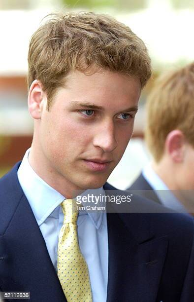 Prince William Arriving At St Mary's Church To Attend A Special Service To Commemorate The Golden Jubilee