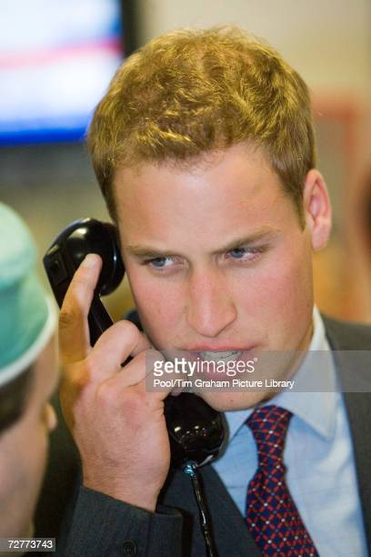 Prince William as Patron of the Tusk Trust visits the City inter-dealer broker firm ICAP during their Charity Day party when all revenues and...