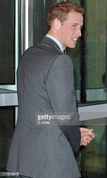 Prince William as Patron of Tusk Trust arrives at the ICAP offices in London, December 7 as part of the annual day in which all company's revenues...