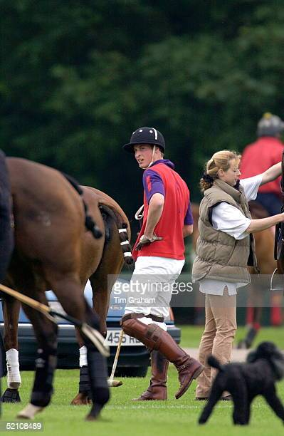 Prince William At A Polo Match At Cirencester Park Polo Club He Played In The Highgrove Team With Their Father For The King Constantine Trophy In A...