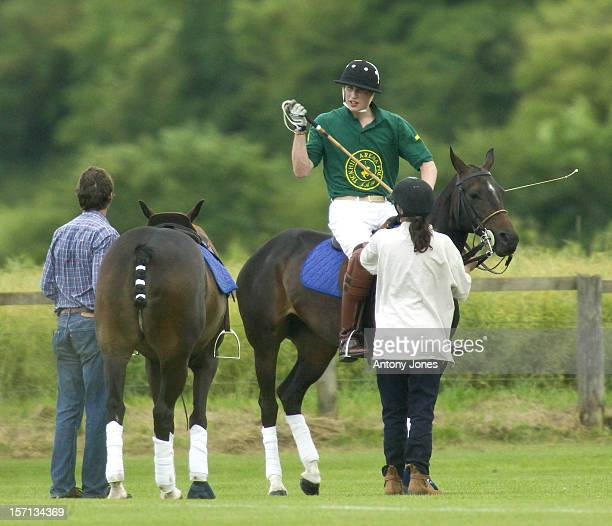 Prince William At A Polo Match At Cirencester Park Polo Club