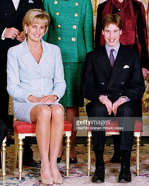 Prince William At Confirmation With Prince Charles And Princess Diana At Windsor Castle