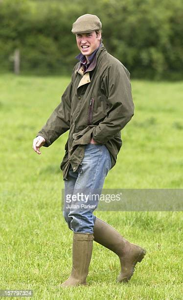 Prince William At Duchy Home Farm In Gloucestershire.