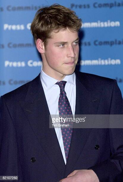 Prince William At Somerset House In London For A Party Hosted By The Press Complaints Commission.