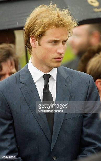 Prince William at the funeral of his grandmother Frances Shand Kydd at the Cathedral of Saint Columba on June 10 2004 in Oban Argyll Bute Scotland...