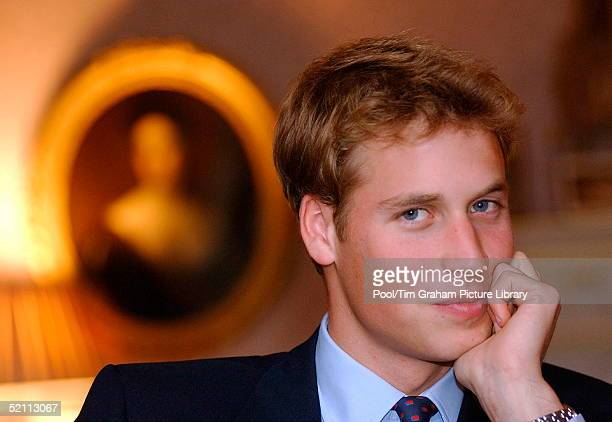 Prince William At The Royal Palace Of Holyrood House In Scotland Prior To Starting His University Career Looking Confident