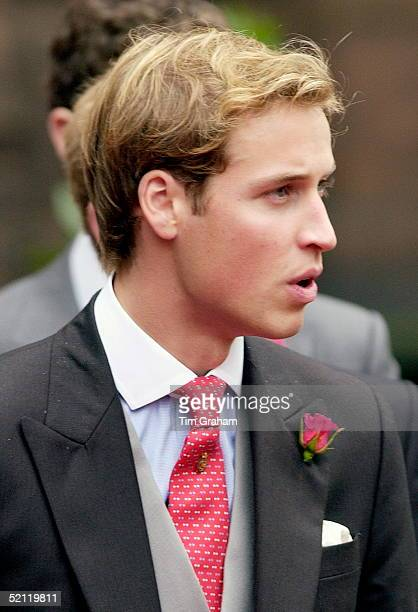 Prince William At The Van Cutsem/grosvenor Wedding At Chester Cathedral