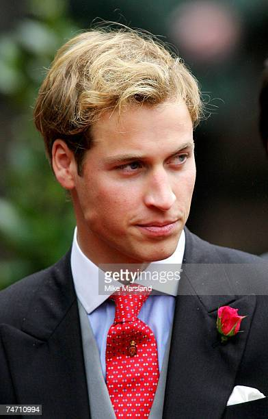 Prince William at the wedding of Lady Tamara the eldest daughter of The Duke and Duchess of Westminster and Edward van Cutsem at Chester Cathedral on...