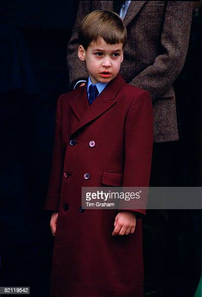 Prince William Attending Christmas Day Service At Sandringham Church In Norfolk.