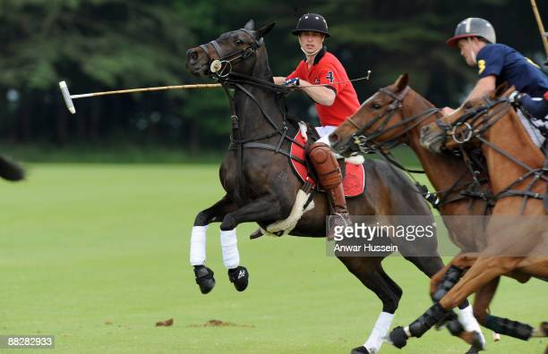 Prince William attends a charity polo match at Cirencester Park Polo Club on June 7 2009 in Cirencester England