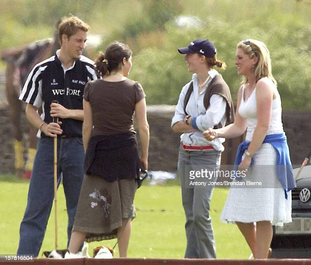Prince William Attends A Match At The Beaufort Park Polo Club