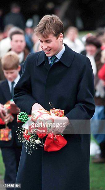 KINGDOM DECEMBER 25 Prince William attends the annual Christmas Day service at Sandringham Church on December 25 1997 in Sandringham England