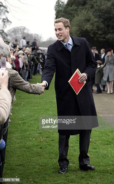 Prince William Attends The Christmas Day Service At Sandringham Church.