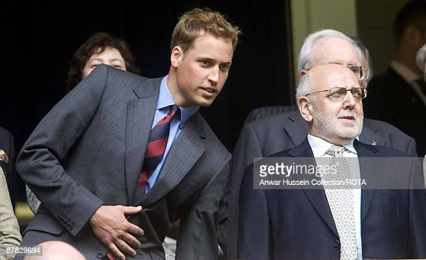 Prince William attends the FA Cup final between Liverpool and West Ham United at the Millennium Stadium in Cardiff on May 13 2006