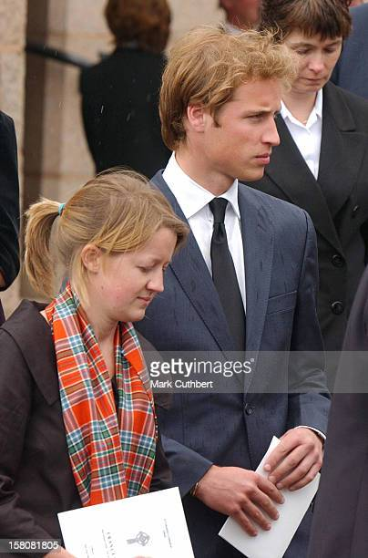 Prince William Attends The Funeral Of Frances Shand Kydd At St Columba'S Cathedral In Oban Scotland