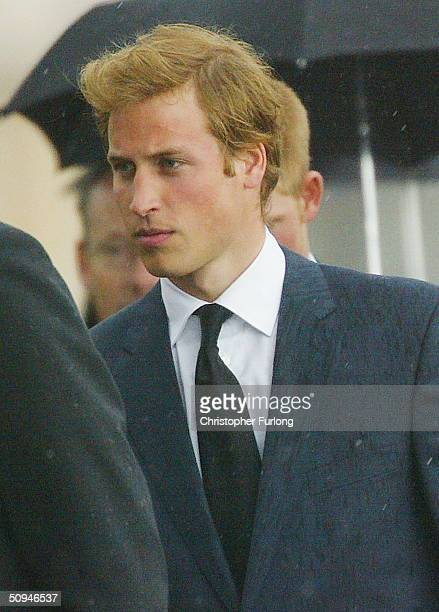 Prince William attends the funeral of his grandmother and Princess Diana's mother Frances Shand Kydd at the Cathedral of Saint Columba on June 10...