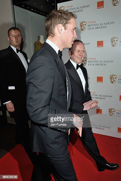 Prince William attends the Orange British Academy Film Awards 2010 at the Royal Opera House on February 21 2010 in London England