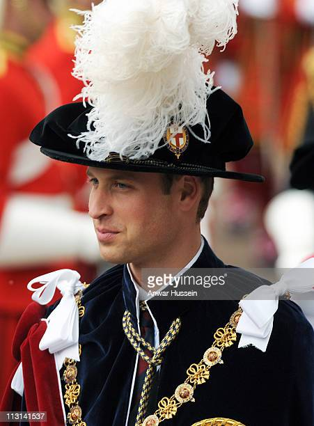 Prince William attends the Order of the Garter ceremony at Windsor Castle on June 14, 2010 in Windsor, England.