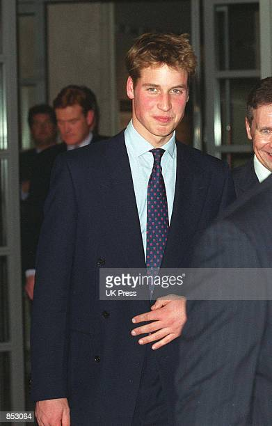 Prince William attends the Press Complaints Commission's 10th Anniversary Reception at London's Somerset House February 7 2001 in London England