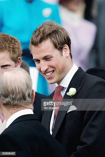 Prince William attends the Service of Prayer and Dedication blessing the marriage of TRH the Prince of Wales Prince Charles and The Duchess Of...