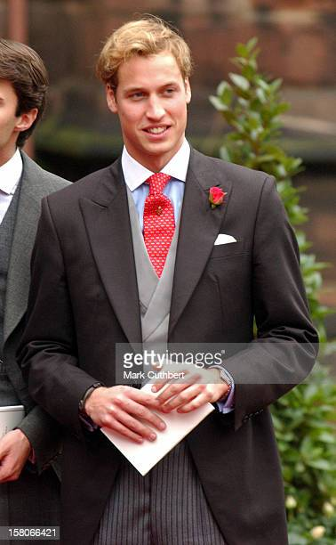 Prince William Attends The Wedding Of Lady Tamara Katherine Grosvenor Edward Van Cutsem At Chester Cathedral