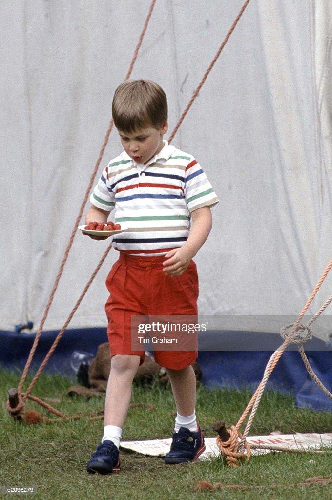 William With Strawberries : News Photo