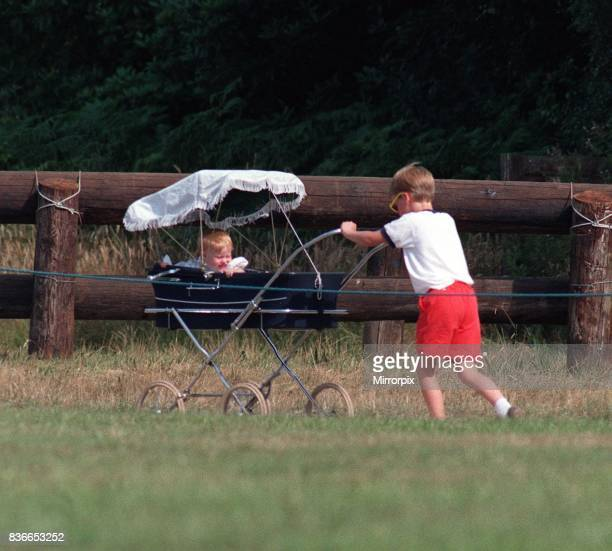 Prince William Collection 1989 Prince William pushing Princess Beatrice in pram July 1989 Princess Beatrice in pram being pushed by her cousin Prince...