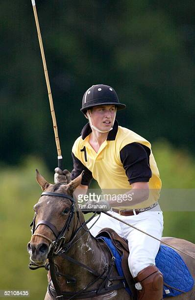 Prince William Competing In The Porcelanosa Challenge Cup Polo Match At Ashe Park To Raise Funds For Local Youth Charities He Is Riding On The...