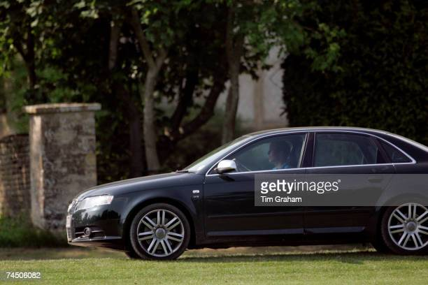 Prince William driving his new Audi S4 Sports Saloon car leaves Cirencester Park Polo Club on June 10 2007 in Cirencester England