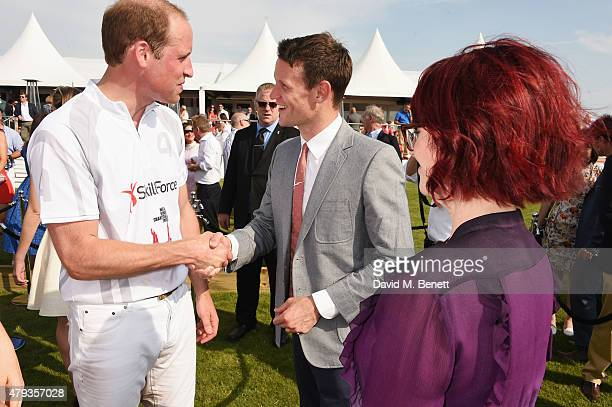 Prince William Duke of Cambrdige Matt Smith and Megan Mullally attend the Audi Polo Challenge 2015 at Cambridge County Polo Club on July 3 2015 in...